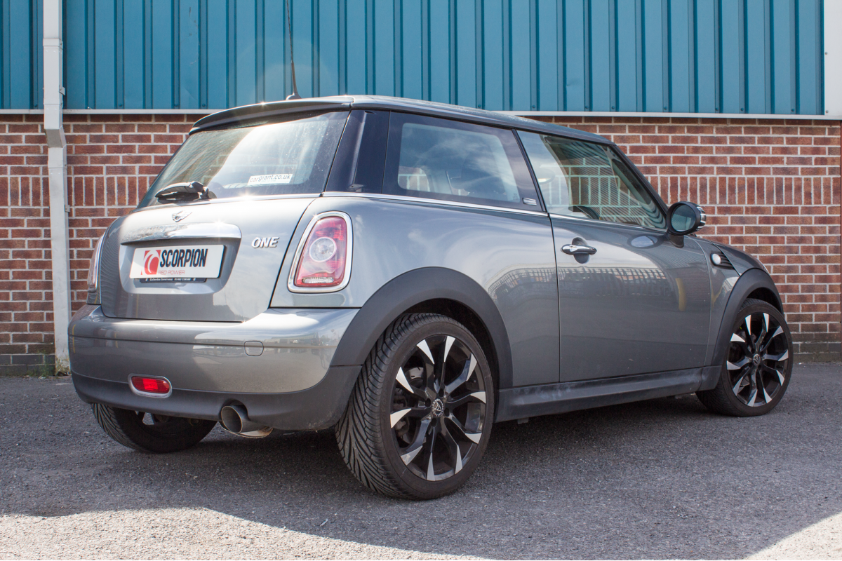 mini one r56 exhausts one r56 performance exhausts. Black Bedroom Furniture Sets. Home Design Ideas