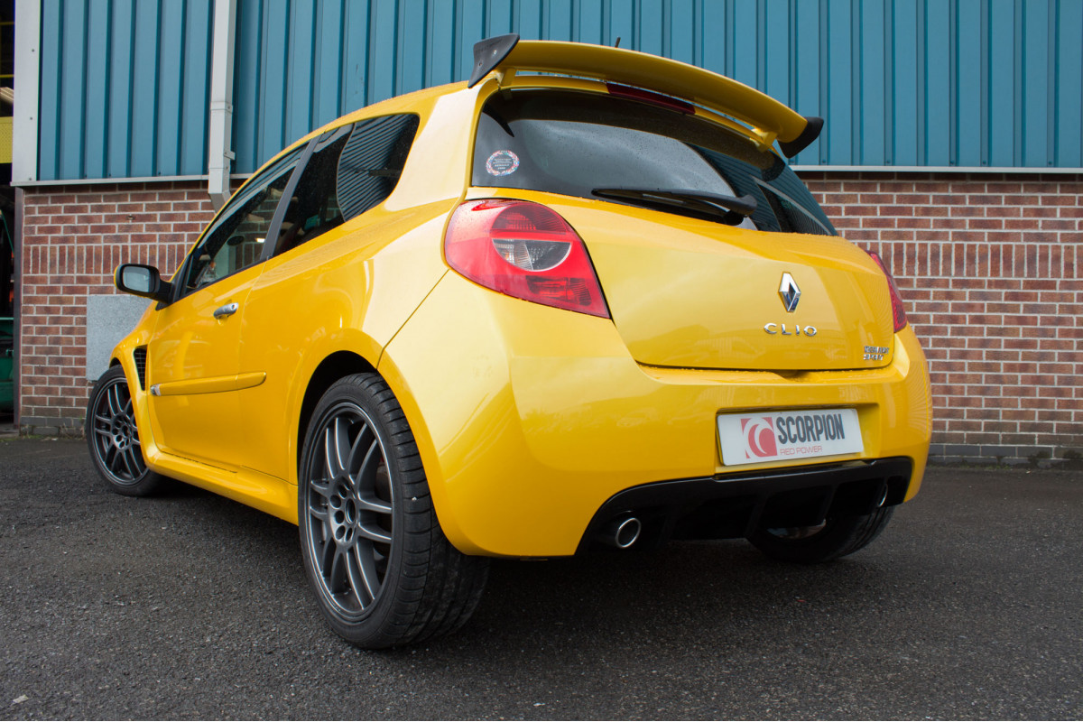 renault clio mk3 197 exhausts clio mk3 197 performance exhausts scorpion exhausts. Black Bedroom Furniture Sets. Home Design Ideas