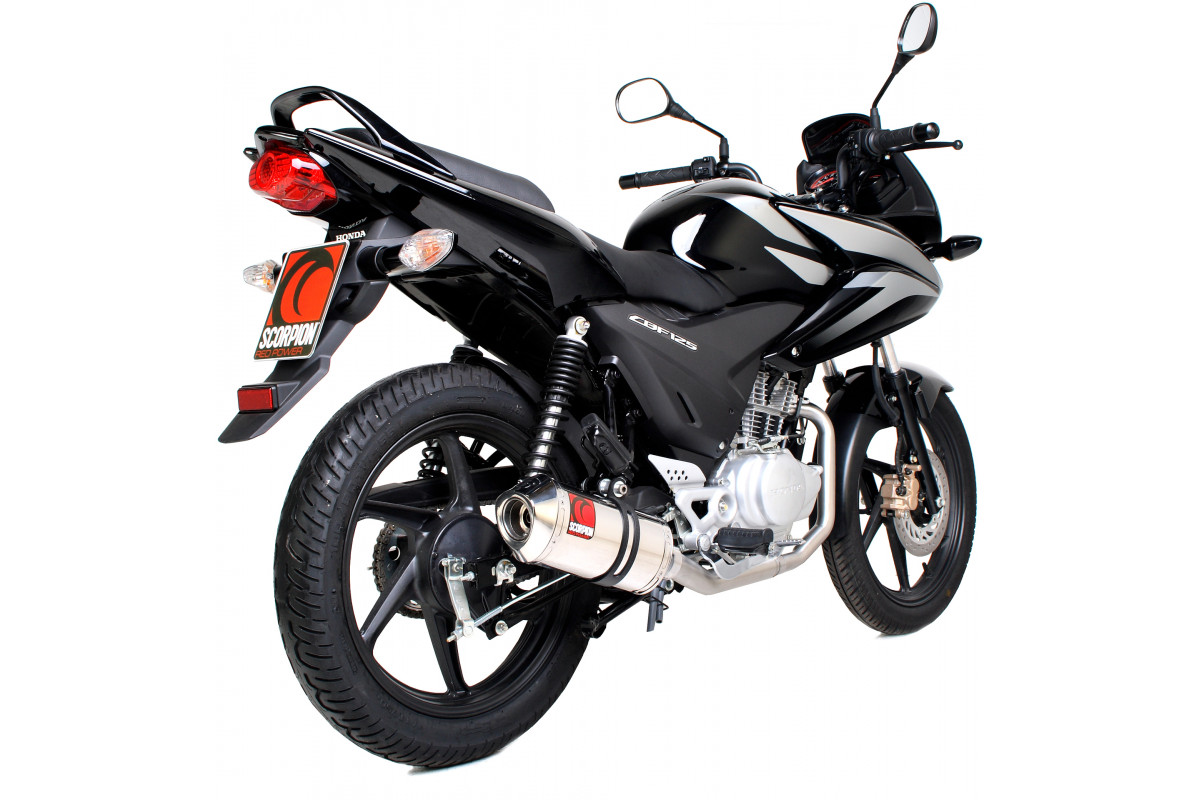 honda cbf 125 exhausts cbf 125 performance exhausts scorpion exhausts. Black Bedroom Furniture Sets. Home Design Ideas