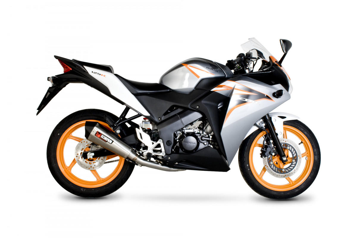 honda cbr 125r exhausts cbr 125r performance exhausts scorpion exhausts. Black Bedroom Furniture Sets. Home Design Ideas