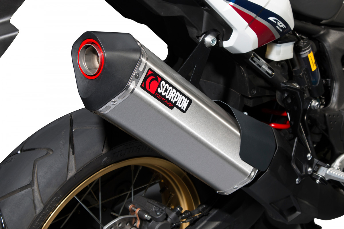 Honda Crf 1000 L Africa Twin Exhausts Crf 1000 L Africa Twin Performance Exhausts Scorpion Exhausts