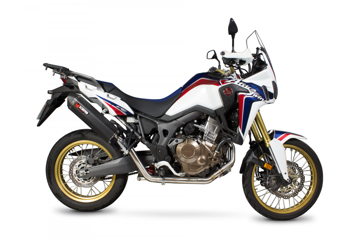 honda crf 1000 l africa twin exhausts crf 1000 l africa. Black Bedroom Furniture Sets. Home Design Ideas