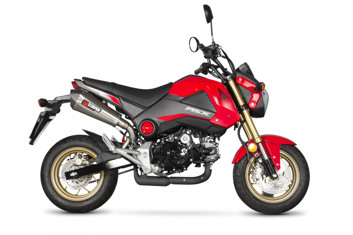 honda msx 125 exhausts msx 125 performance exhausts scorpion exhausts. Black Bedroom Furniture Sets. Home Design Ideas