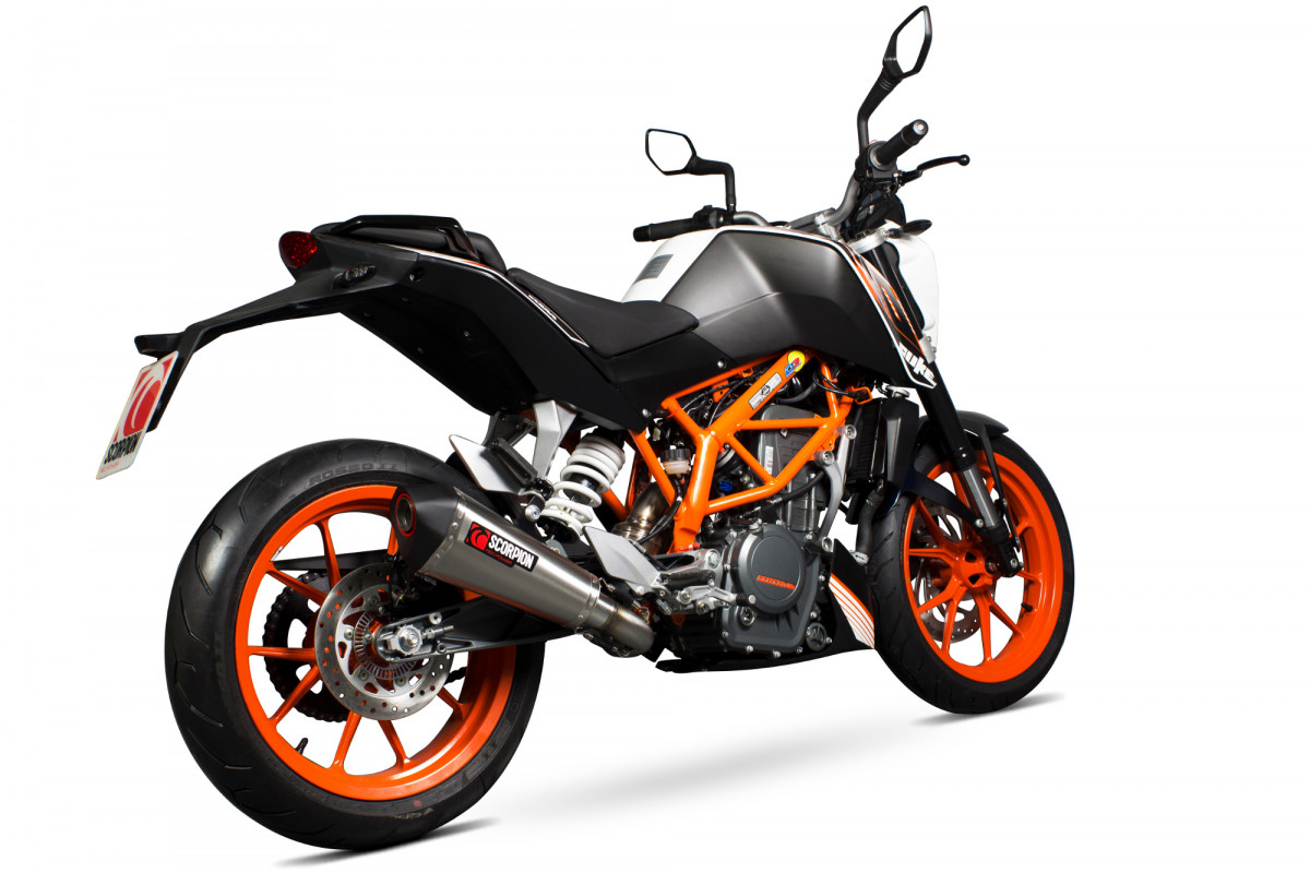 ktm duke 390 exhausts duke 390 performance exhausts. Black Bedroom Furniture Sets. Home Design Ideas