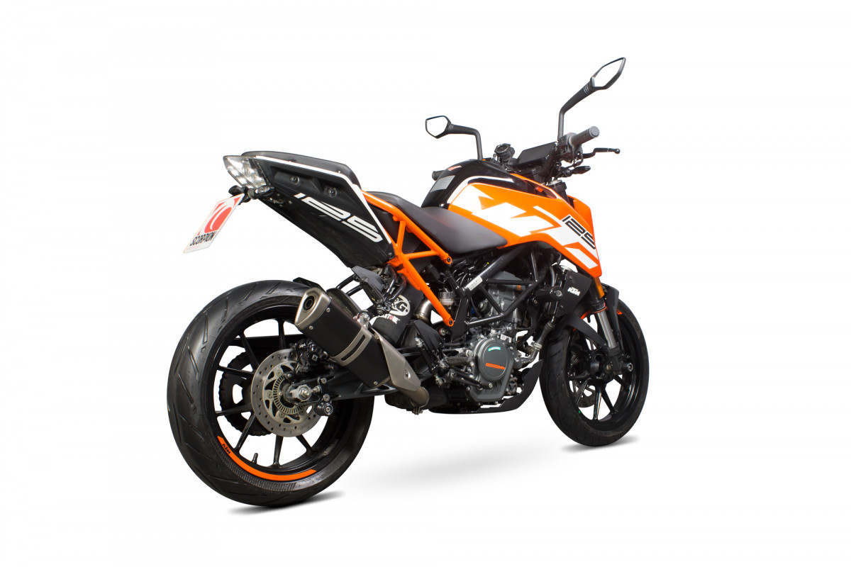 ktm duke 125 17 current exhausts duke 125 17 current performance exhausts scorpion exhausts. Black Bedroom Furniture Sets. Home Design Ideas