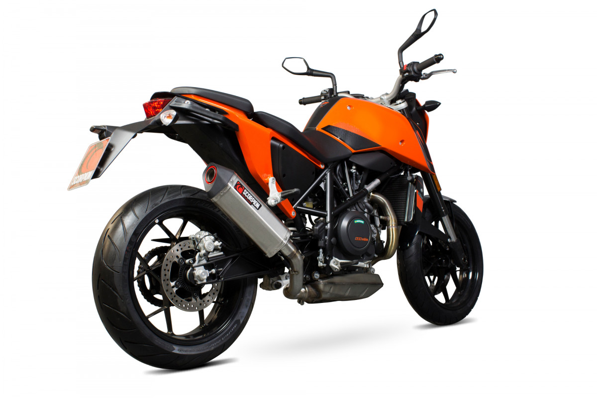 ktm duke 690 exhausts duke 690 performance exhausts scorpion exhausts. Black Bedroom Furniture Sets. Home Design Ideas