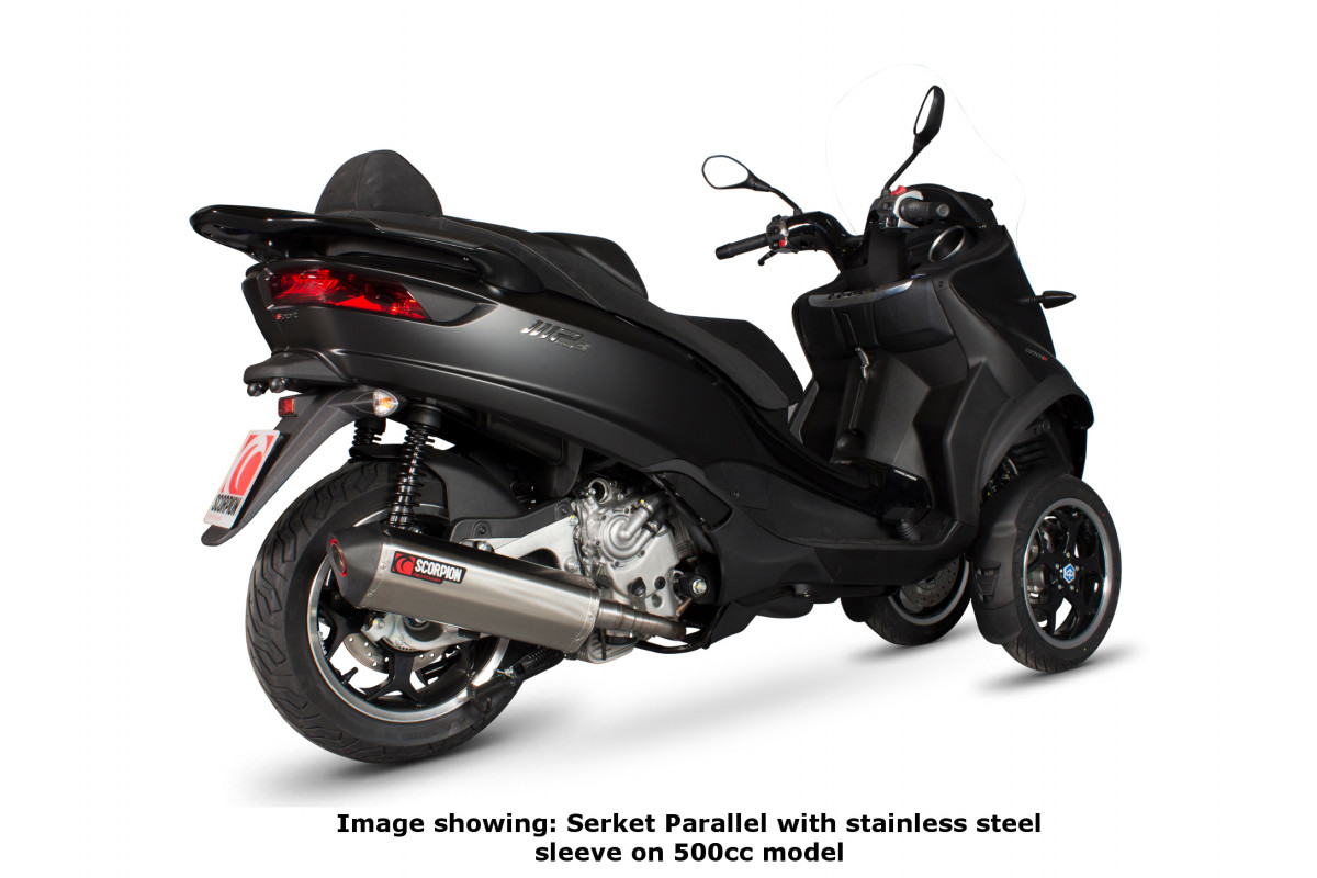 piaggio mp3 500 500lt exhausts mp3 500 500lt performance exhausts scorpion exhausts. Black Bedroom Furniture Sets. Home Design Ideas