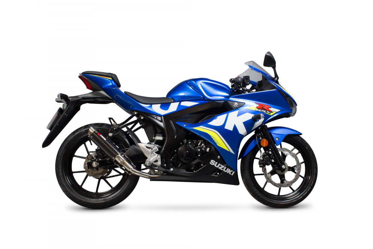 suzuki gsx r gsx r125 exhausts gsx r gsx r125 performance exhausts scorpion exhausts. Black Bedroom Furniture Sets. Home Design Ideas
