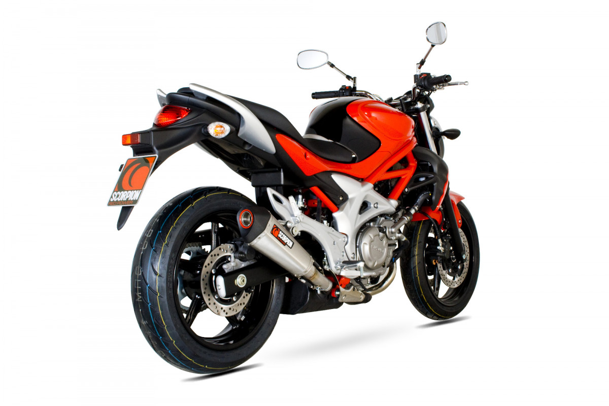 suzuki gladius 650 exhausts gladius 650 performance exhausts scorpion exhausts. Black Bedroom Furniture Sets. Home Design Ideas