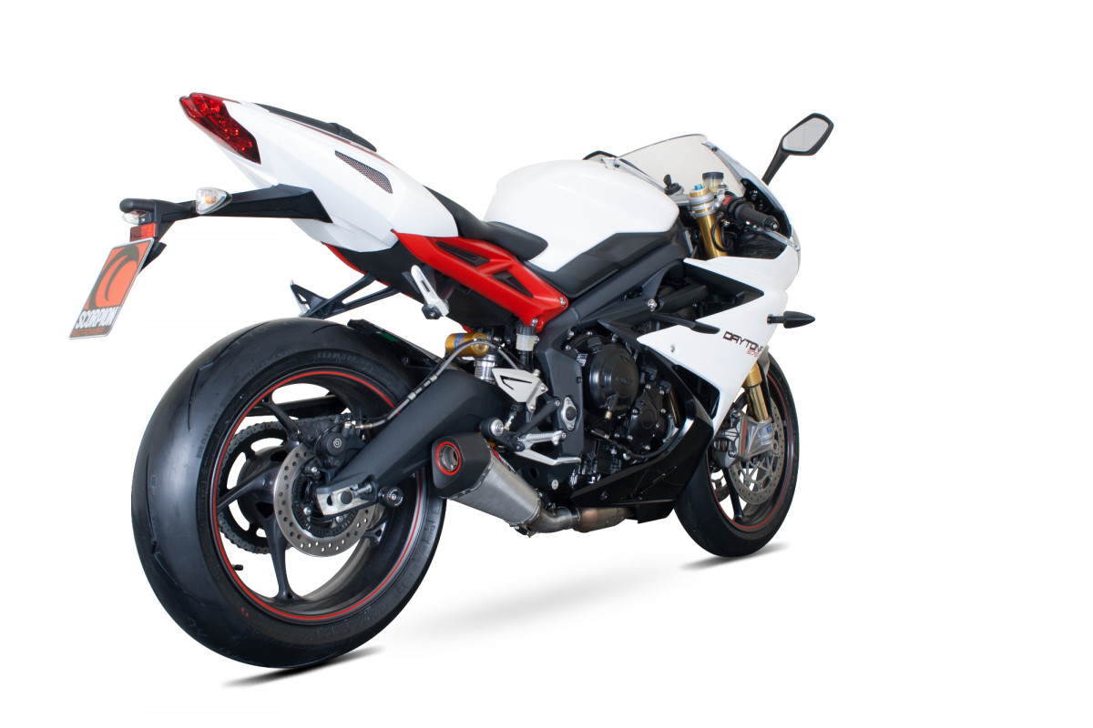triumph daytona 675 exhausts daytona 675 performance exhausts scorpion exhausts. Black Bedroom Furniture Sets. Home Design Ideas