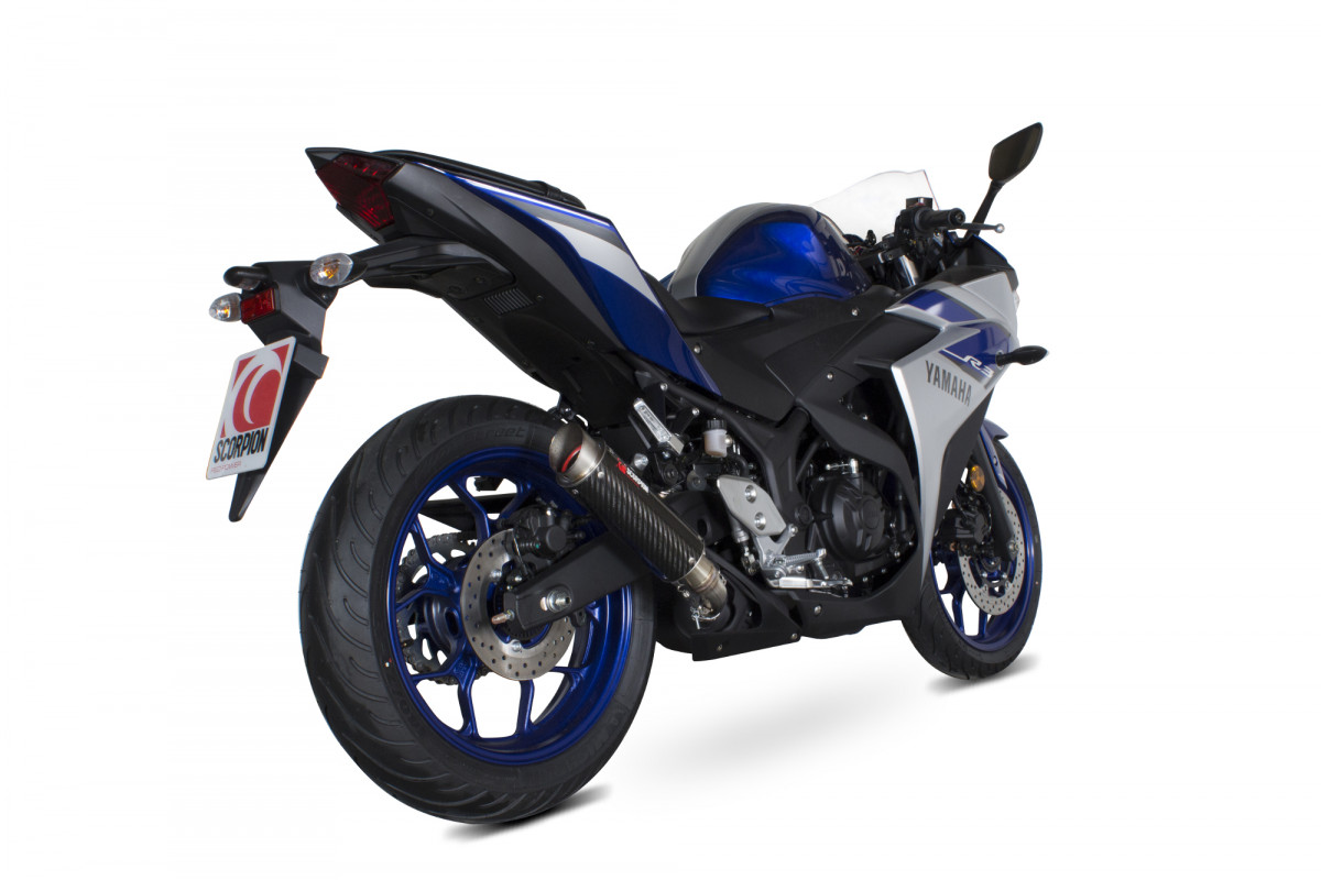 Yamaha yzf r3 r25 exhausts yzf r3 r25 performance for Yamaha exhaust systems